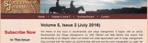 Stockmanship Journal Summer 2016