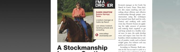 Stockmanship Article
