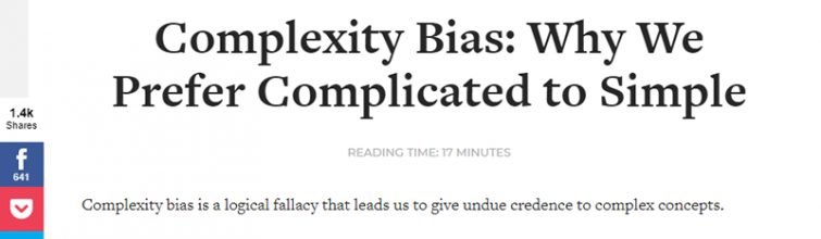 Complexity Bias Explained